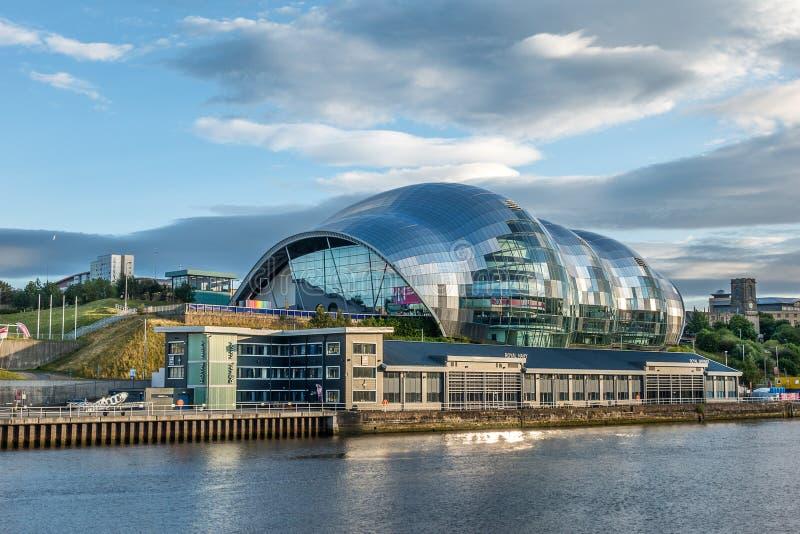 Gateshead på Tyne River arkivbild