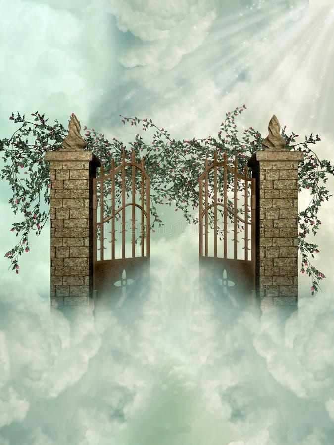 Gateway aan de hemel stock illustratie