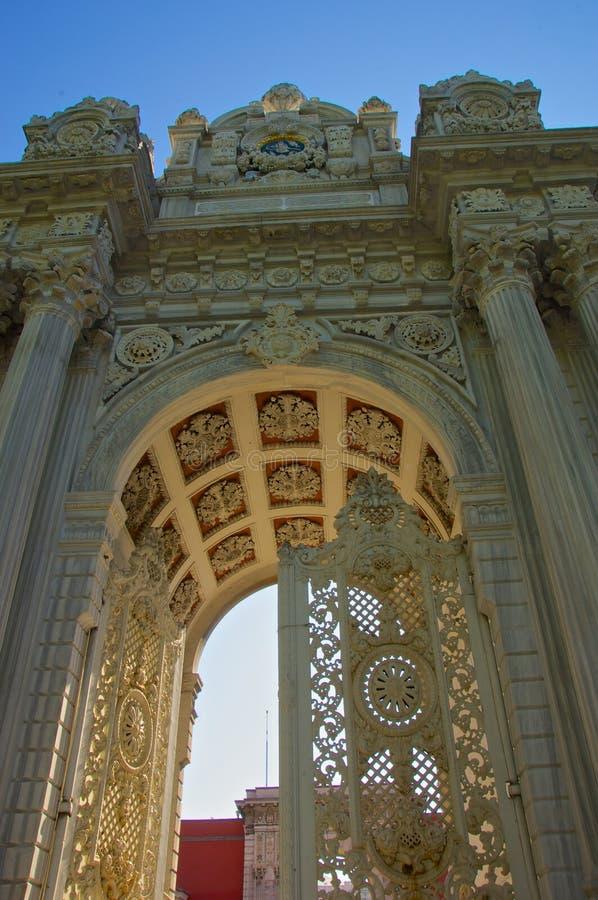 Gateway aan Yildiz Palace stock afbeelding