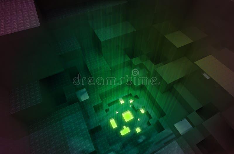Gateway abstrait à la quatrième dimension illustration stock