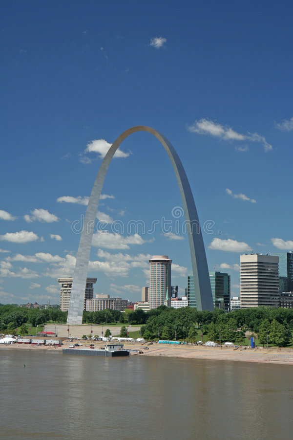 Gateway Arch in St Louis. Missouri stock image