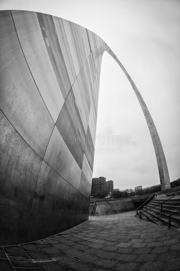 The Gateway Arch, St. Louis, Missouri. The Gateway Arch, a 630-foot 192 m monument in St. Louis, Missouri, USA, the world`s tallest arch, the tallest man-made royalty free stock photography