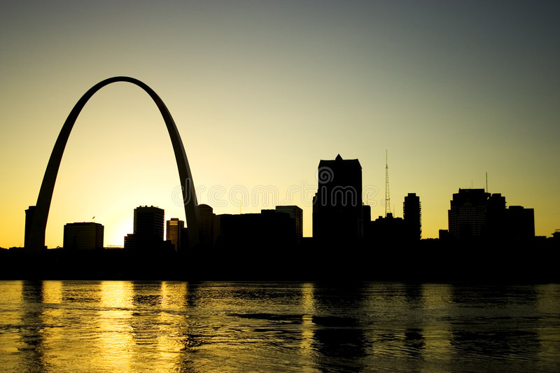Gateway Arch St. Louis Missouri Skyline stock photos