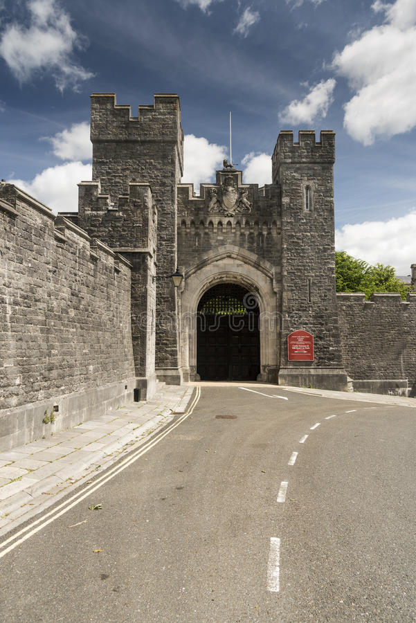 Gateway Arundel Castle Arundel West Sussex. Arundel Castle is a restored and remodelled medieval castle in Arundel, West Sussex, England. It was established by royalty free stock photography