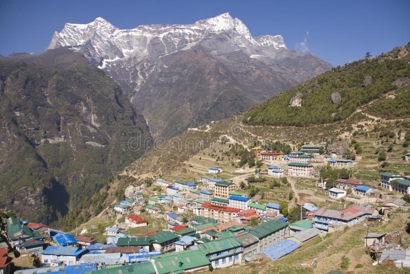Gateway au support Everest image libre de droits