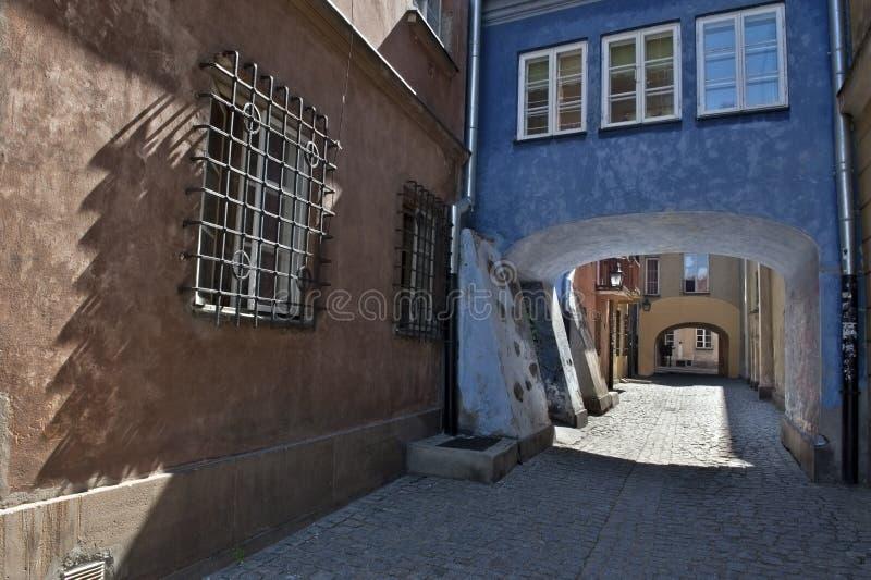 Gateway bij de oude stad van Warshau. stock afbeelding