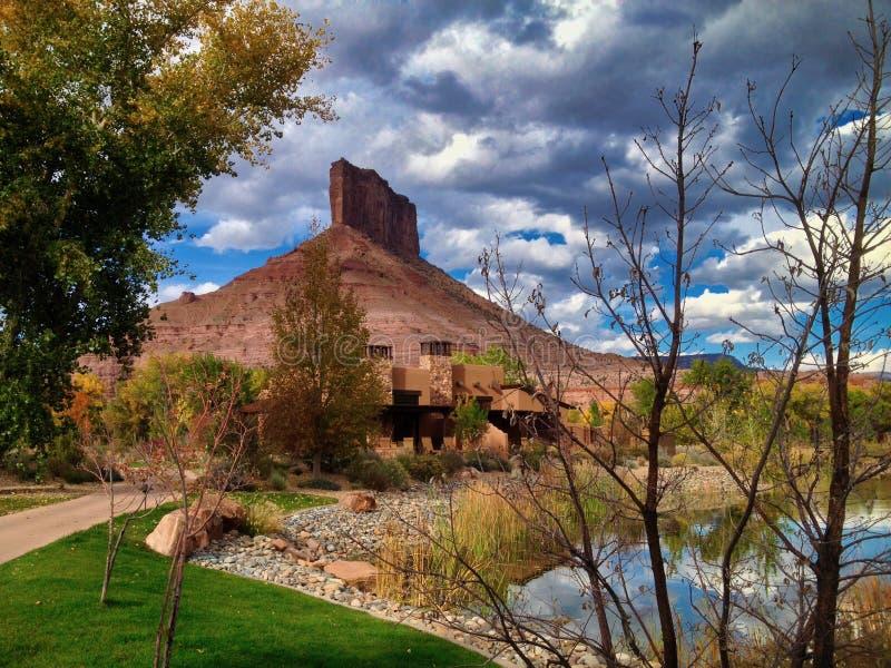 Gateway Canyons Resort and October Sky lizenzfreies stockbild