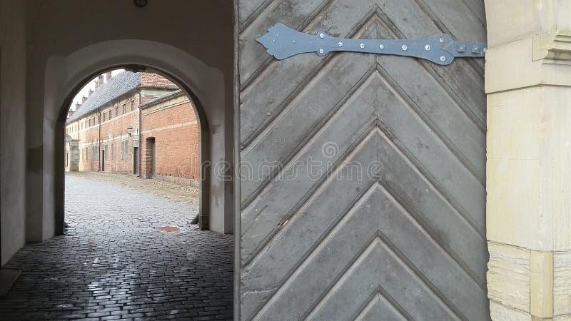 Gateway at castle stock photos