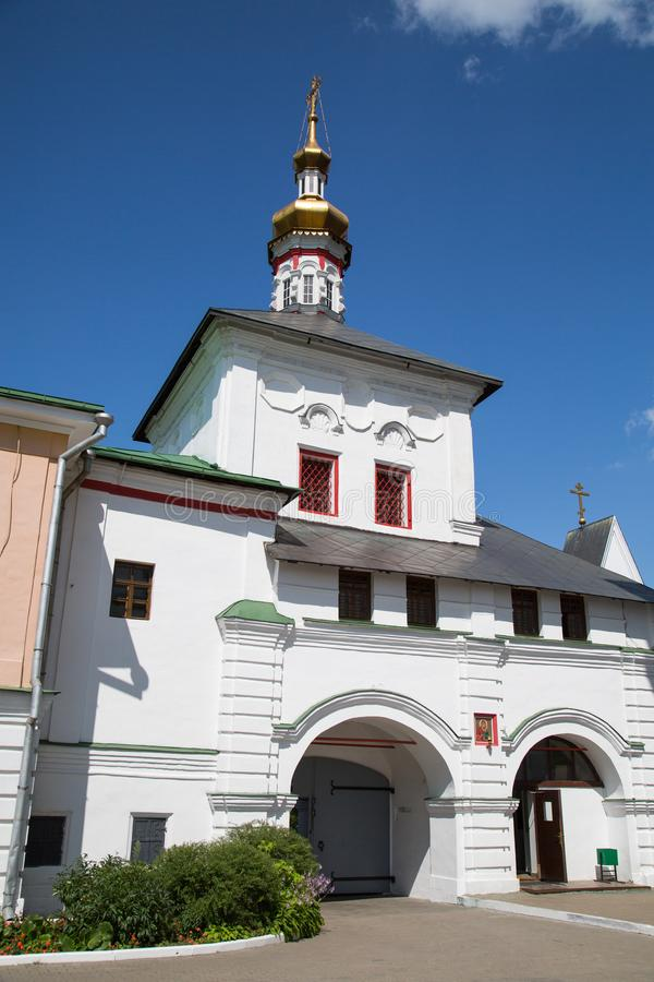 Gateway Church in Nikolo-Perervinsky monastery in Moscow. Sights Of Russia. The architecture of World tourism stock photo