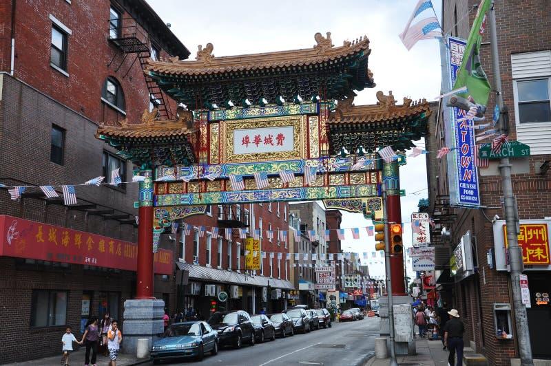 Gateway de Chinatown en Philadelphia fotografía de archivo