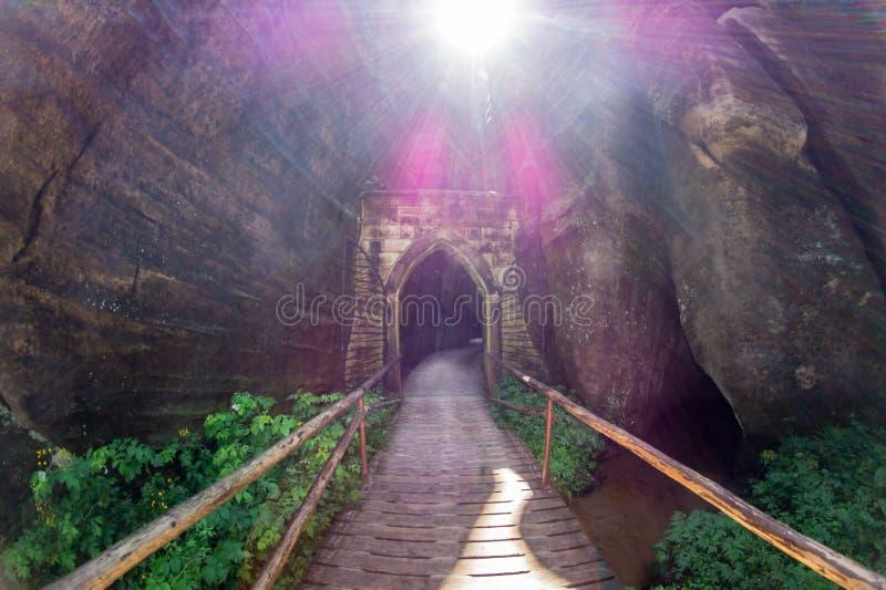 Gateway in de hemel stock foto