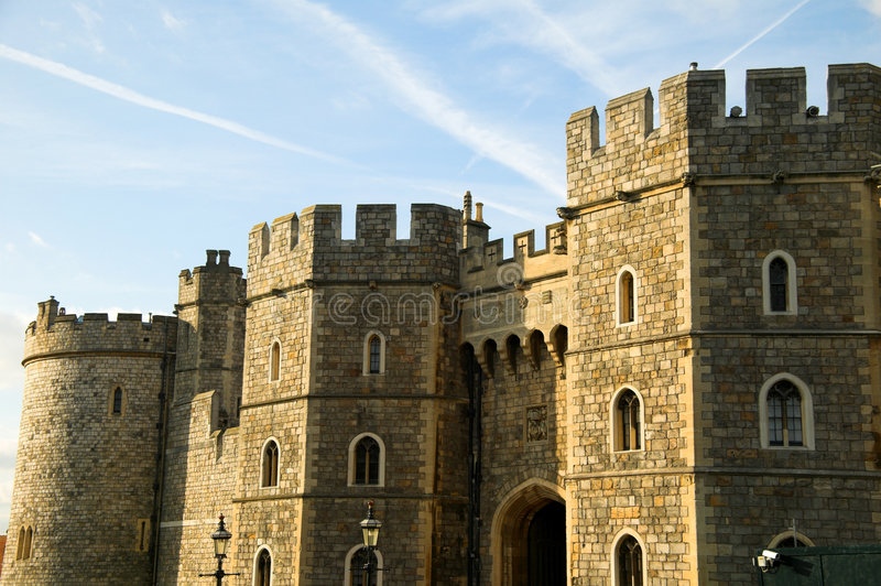 Gateway de Henry V111 do castelo de Windsor foto de stock