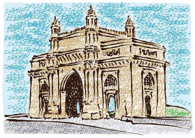Gateway de Mumbai de l'Inde illustration stock