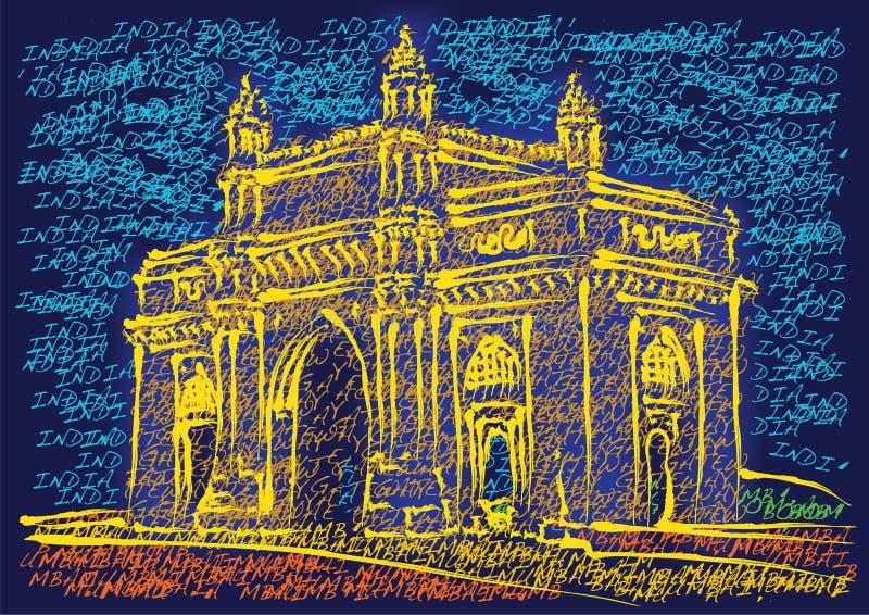 Gateway de Mumbai de l'Inde illustration libre de droits