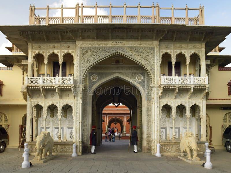 Gateway de Rajendra Pôle - Jaipur - Inde photos libres de droits