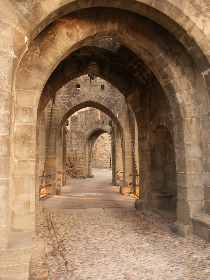 Gateway do castelo fotografia de stock royalty free