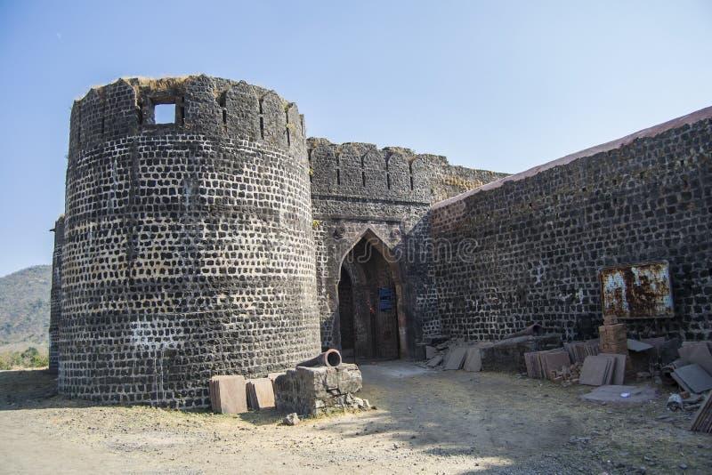 Gateway of Historic Mughal Era Fort royalty free stock photo