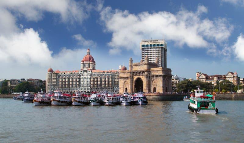 Gateway of India. Mumbai India with Gateway and hotel