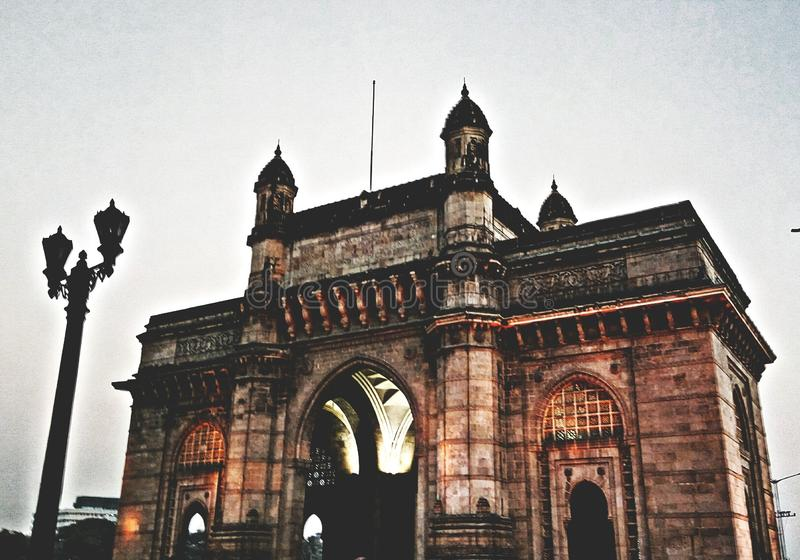 The gateway of india royalty free stock images