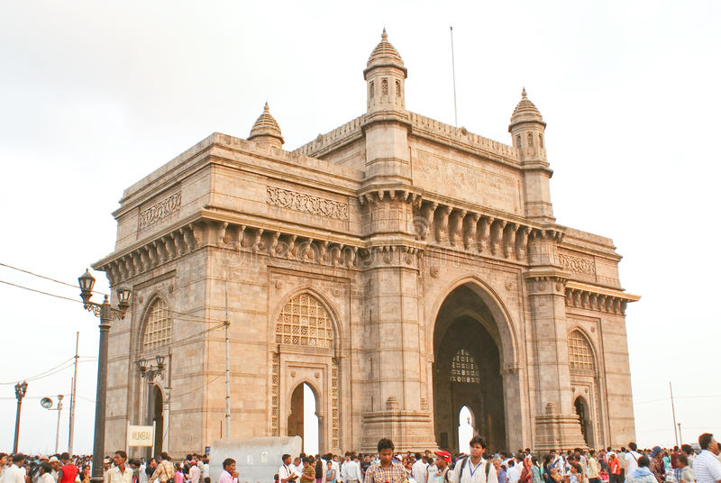 Gateway Of India in Mumbai,India. Gateway of India, a British era monument , located in the commercial city of Mumbai on western coast of India stock images