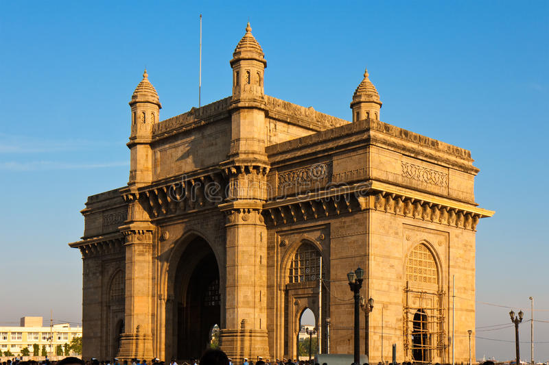 Gateway a India no por do sol foto de stock