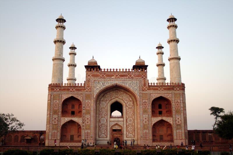 Gateway A La Tumba De Akbar. Fotos de archivo