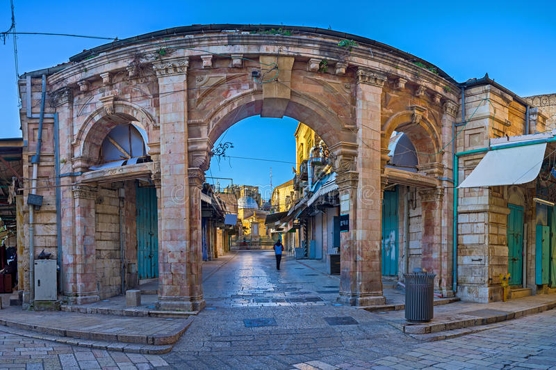 The gateway to the bazaar royalty free stock photography
