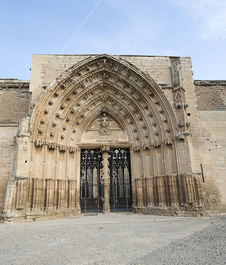 Gateway to a castle from the Middle Ages. stock photo