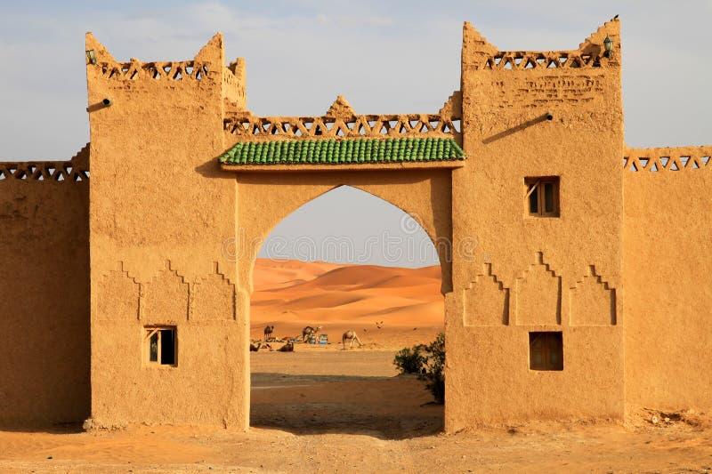 Download Gateway to the Dunes stock photo. Image of merzouga, doorway - 24341198