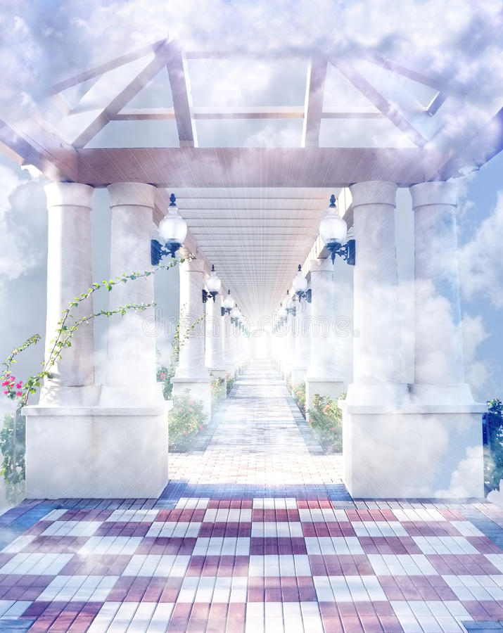 Gateway to Heaven. The gateway to heaven in the clouds royalty free stock photography