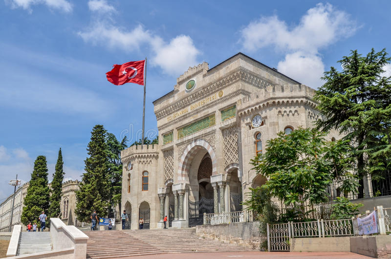 gateway to the istanbul university istanbul turkey editorial image