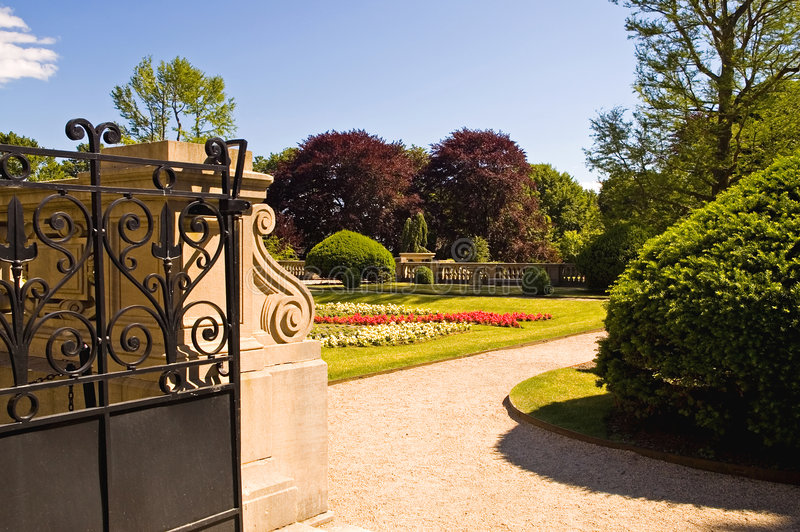 Gateway to private gardens royalty free stock photos