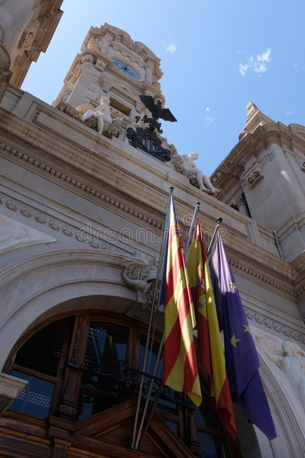 Gateway to Valencia City Hall in Spain royalty free stock photo