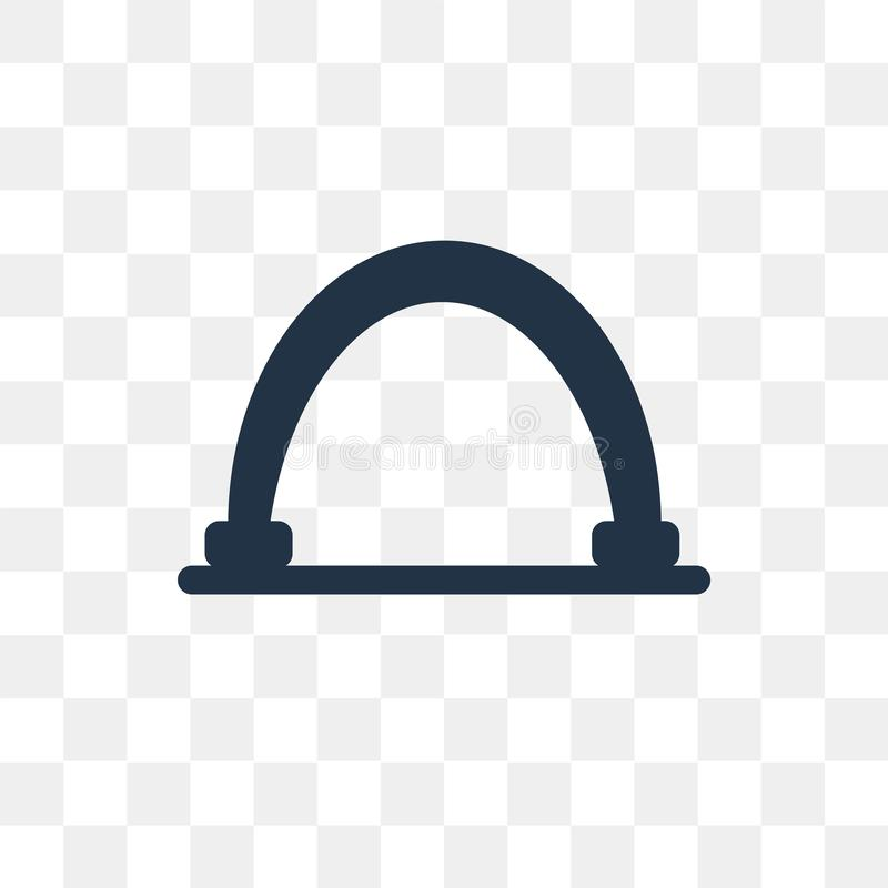 Gateway vectordiepictogram op transparante achtergrond, Gateway wordt geïsoleerd royalty-vrije illustratie