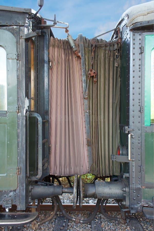 Gateway viejo del carro del tren fotos de archivo libres de regalías