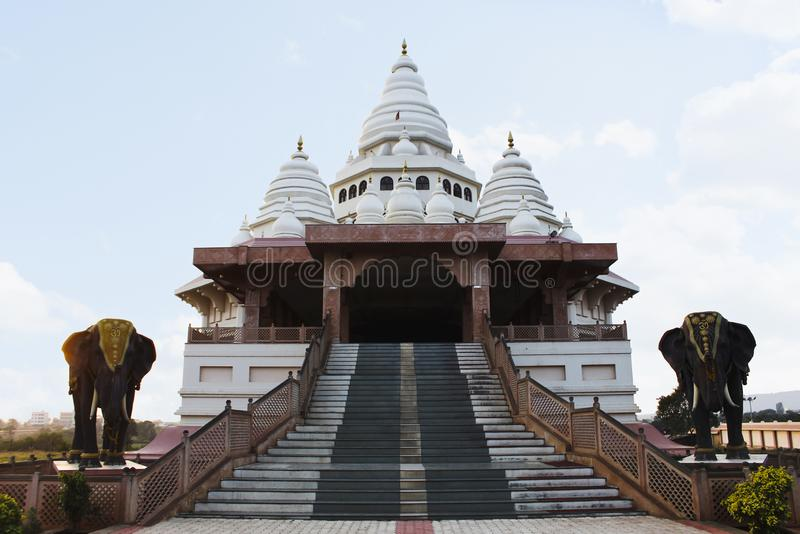 Gatha Mandir, domicílio de Sant Tukaram honrou Saint do poeta, Dehu, Maharashtra, Índia foto de stock royalty free