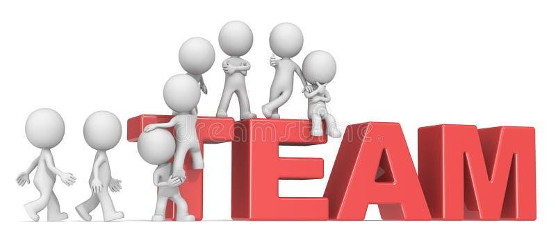 Gather the Team. royalty free illustration