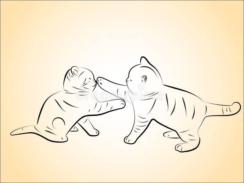 Gatinhos ilustração do vetor