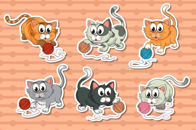 Gatinhos ajustados ilustração stock