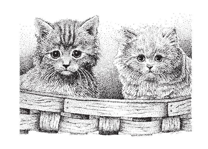 Gatinhos bonitos ilustração stock