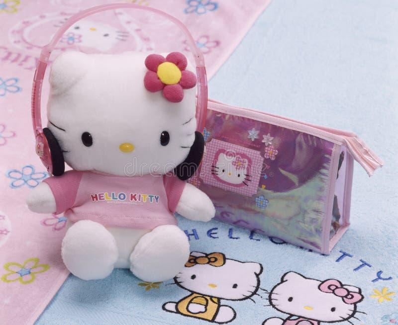Gatito del juguete hola imagen de archivo libre de regalías