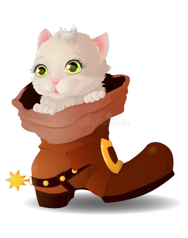 Gatito en una bota libre illustration