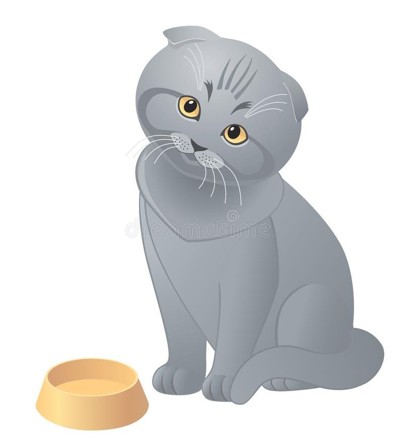 Gatito lindo hambriento libre illustration