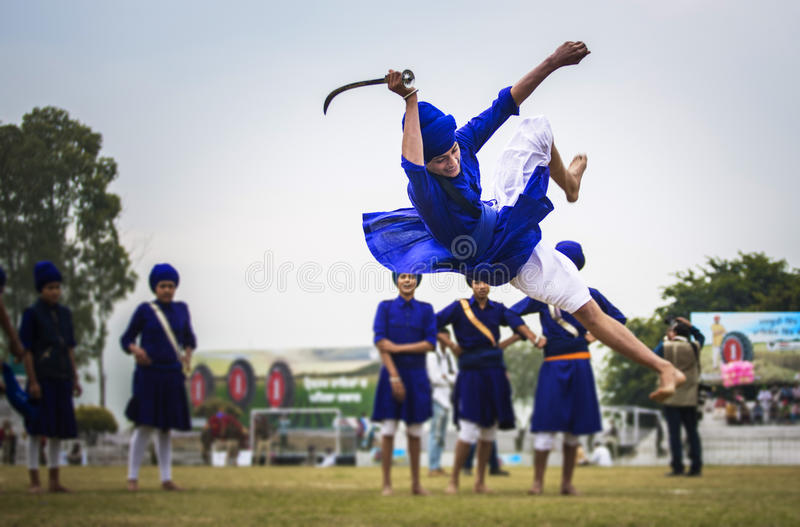 Gatka - een sikh krijgsart. royalty-vrije stock foto's