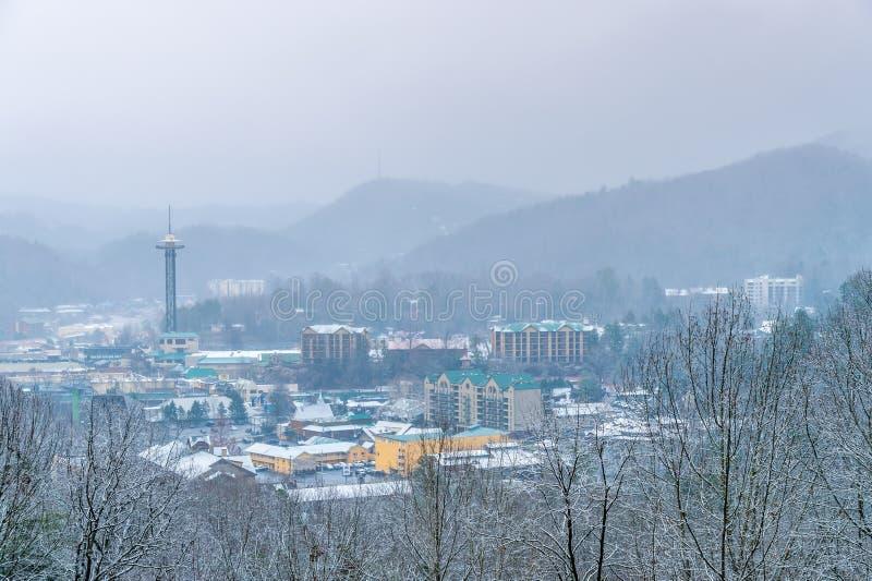 Gatlinburg в зиме стоковая фотография
