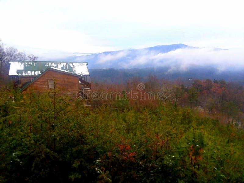 Gatlinburg en diciembre después de la nieve imagenes de archivo