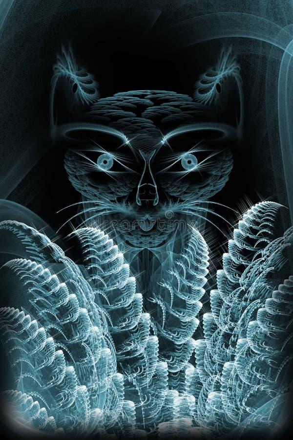Gato abstrato fotografia de stock royalty free