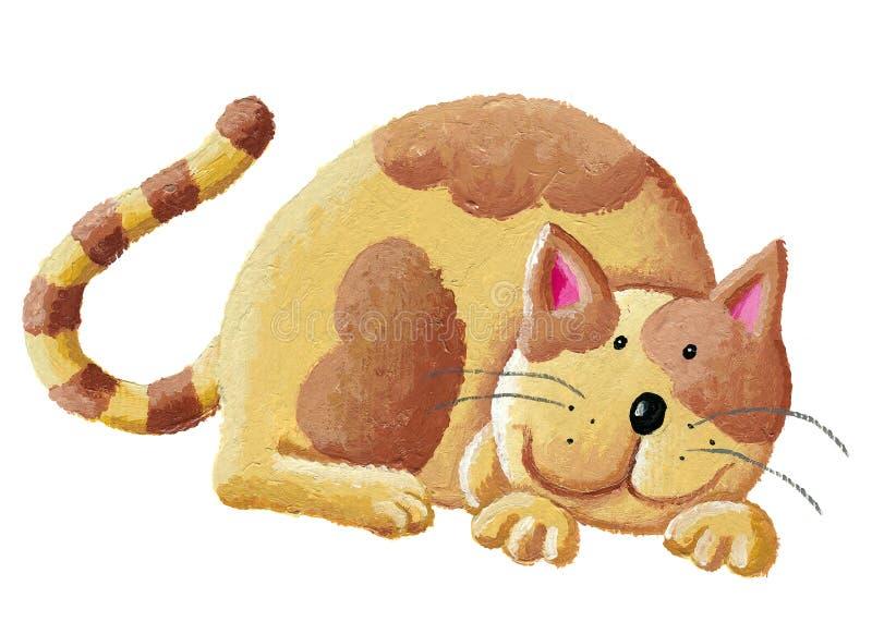 Gato alaranjado bonito ilustração do vetor