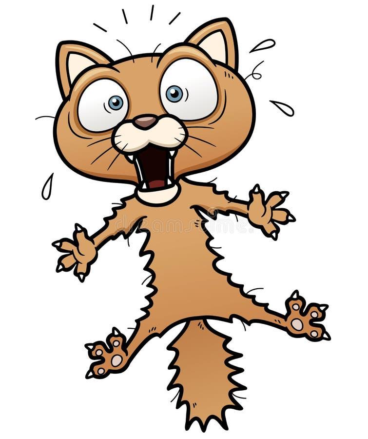 Gato assustado dos desenhos animados ilustração royalty free
