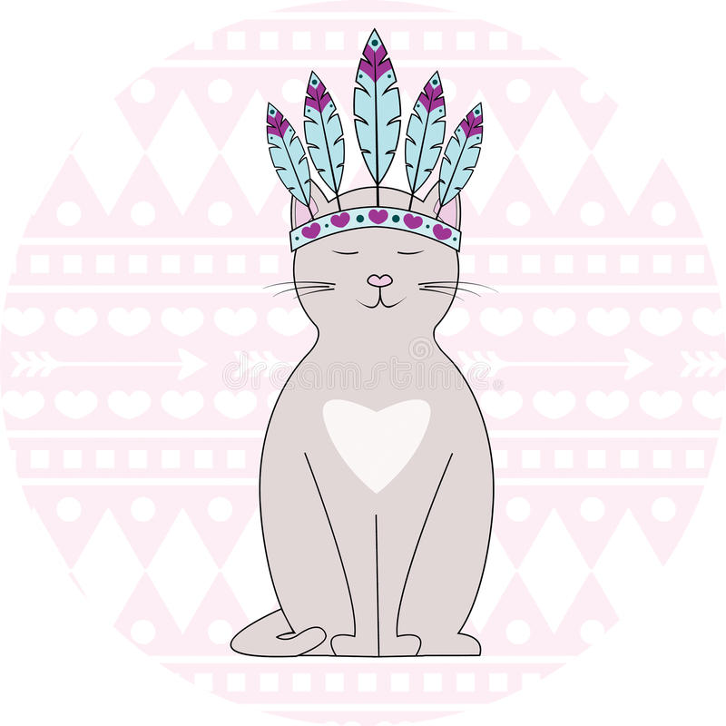 Gato azteca libre illustration